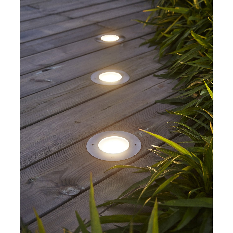 Spot encastrer ext rieur linares diam 12 cm plastique for Spot exterieur terrasse