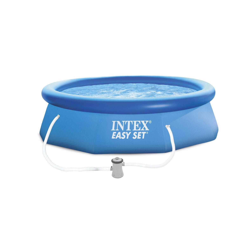 piscine hors sol autoportante gonflable easy set intex diam 3 05 x h 0 76 m e