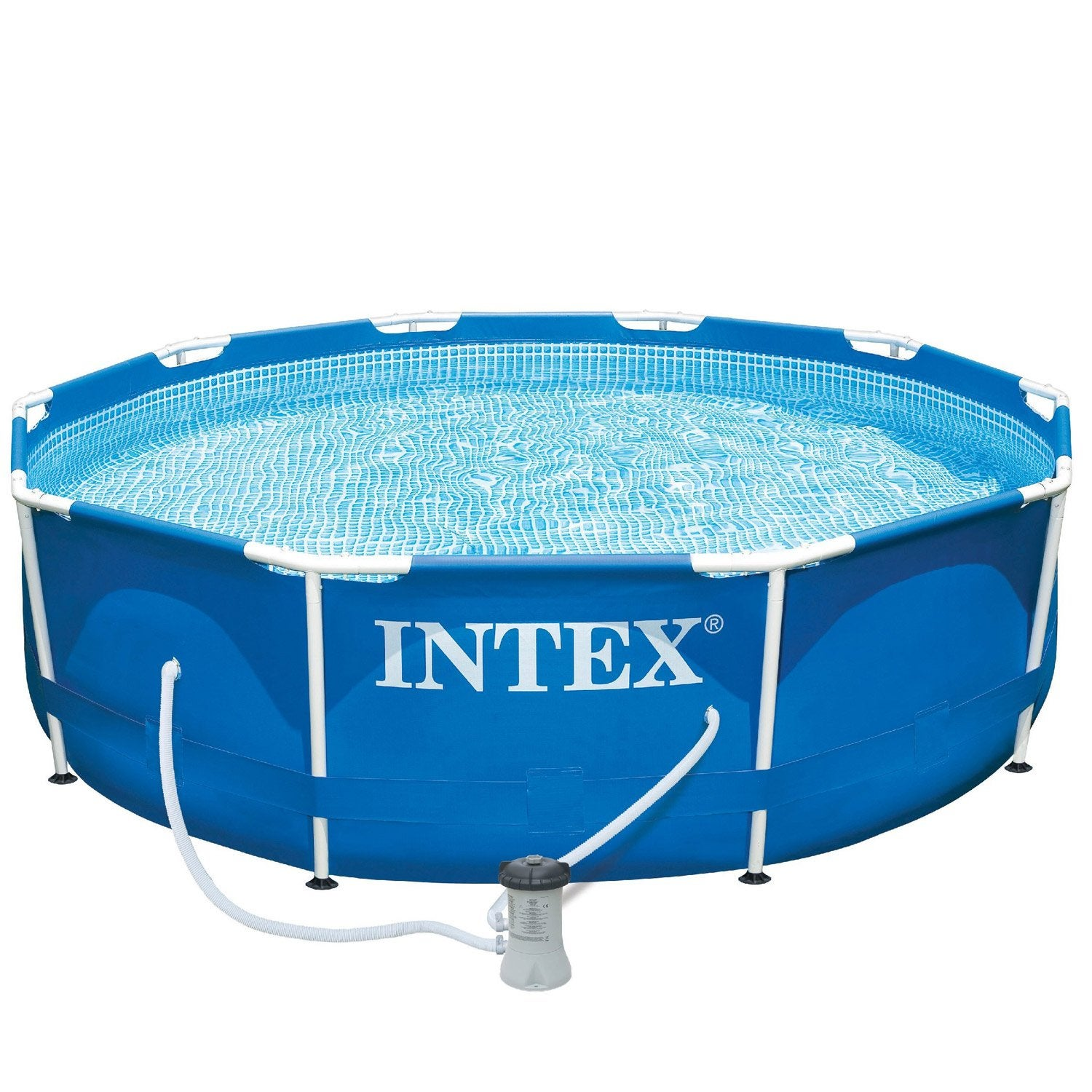 Piscine hors sol autoportante tubulaire metal frame intex for Bache piscine intex 3 05