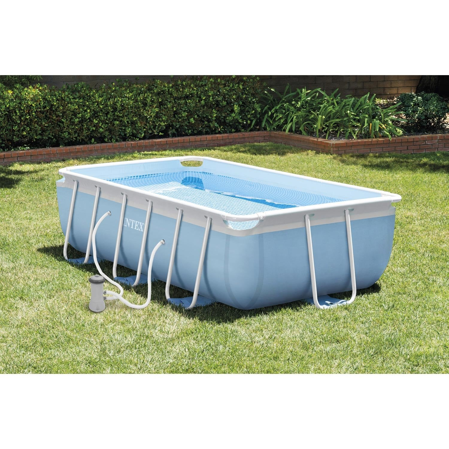 Piscine hors sol autoportante tubulaire intex l 3 4 x l 2 for Piscine tubulaire rectangulaire en solde
