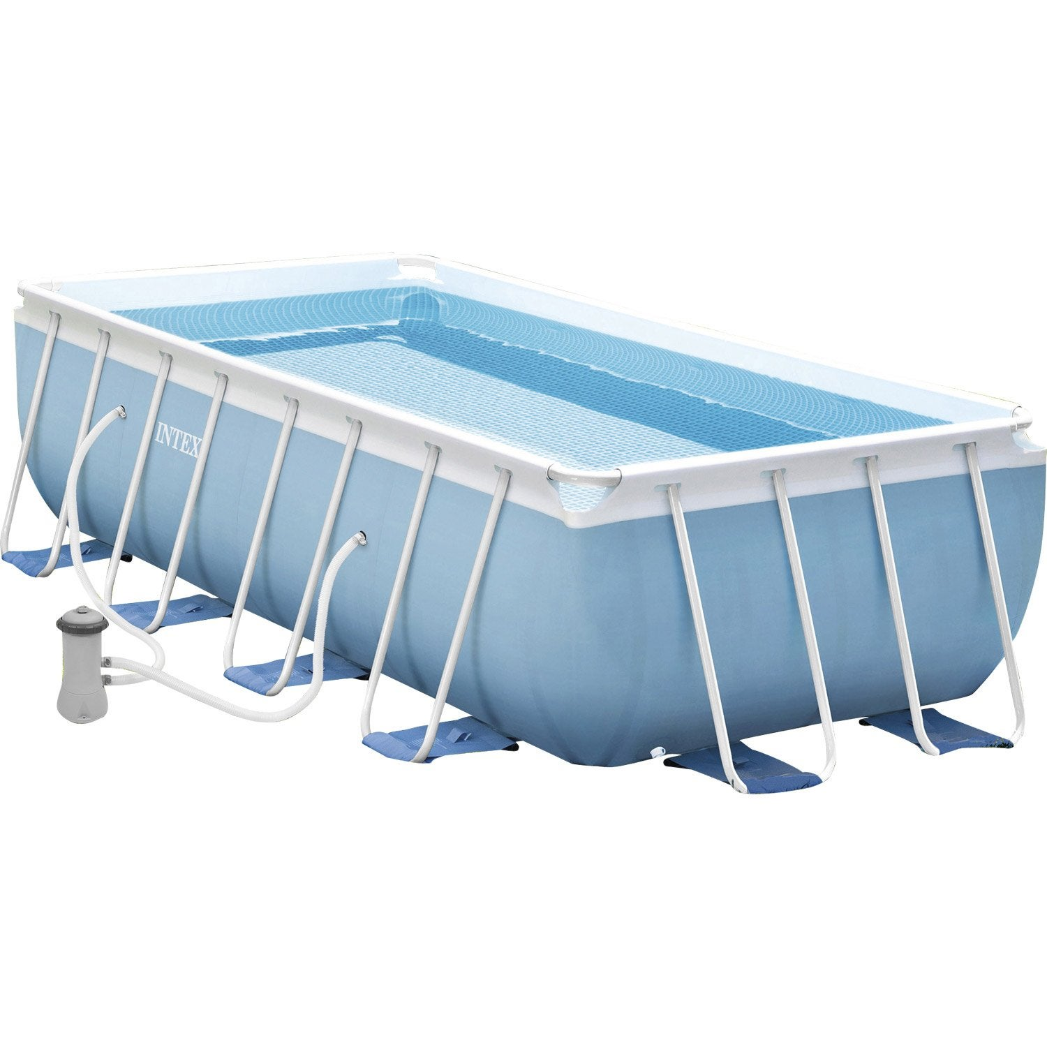 Piscine hors sol autoportante tubulaire intex l x l for Piscine tubulaire leroy merlin