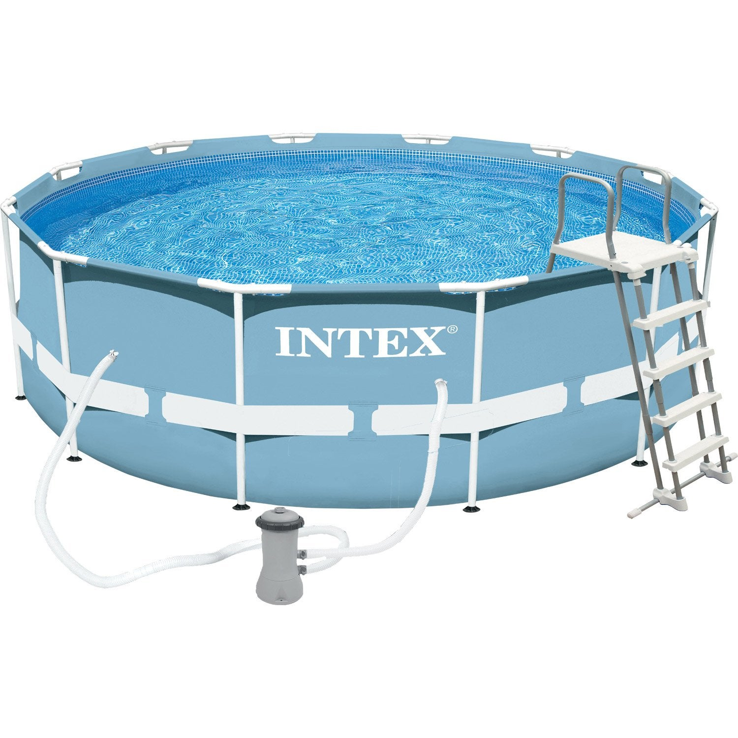 Piscine hors sol autoportante tubulaire prism frame intex for Video x piscine