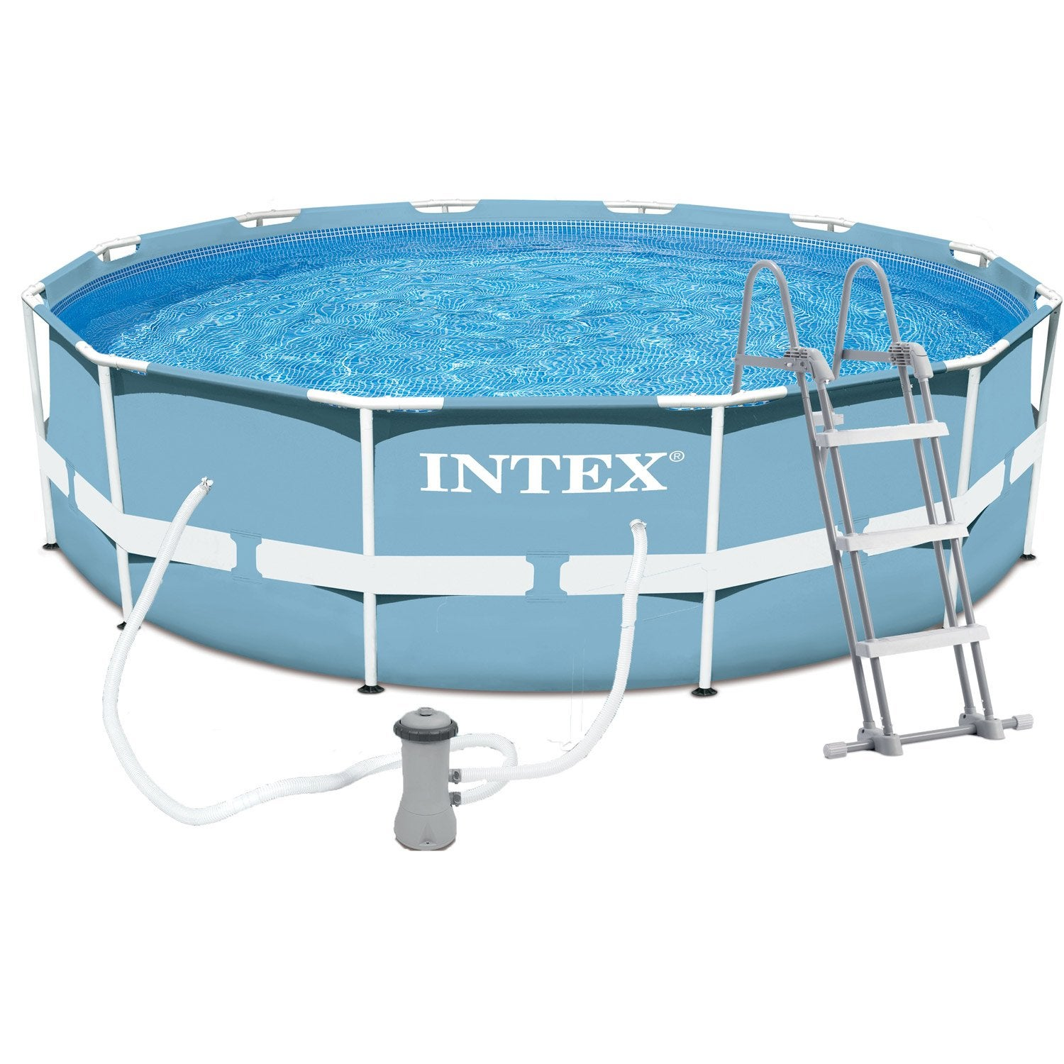 Piscine hors sol autoportante tubulaire prism frame intex for Piscine portable carrefour