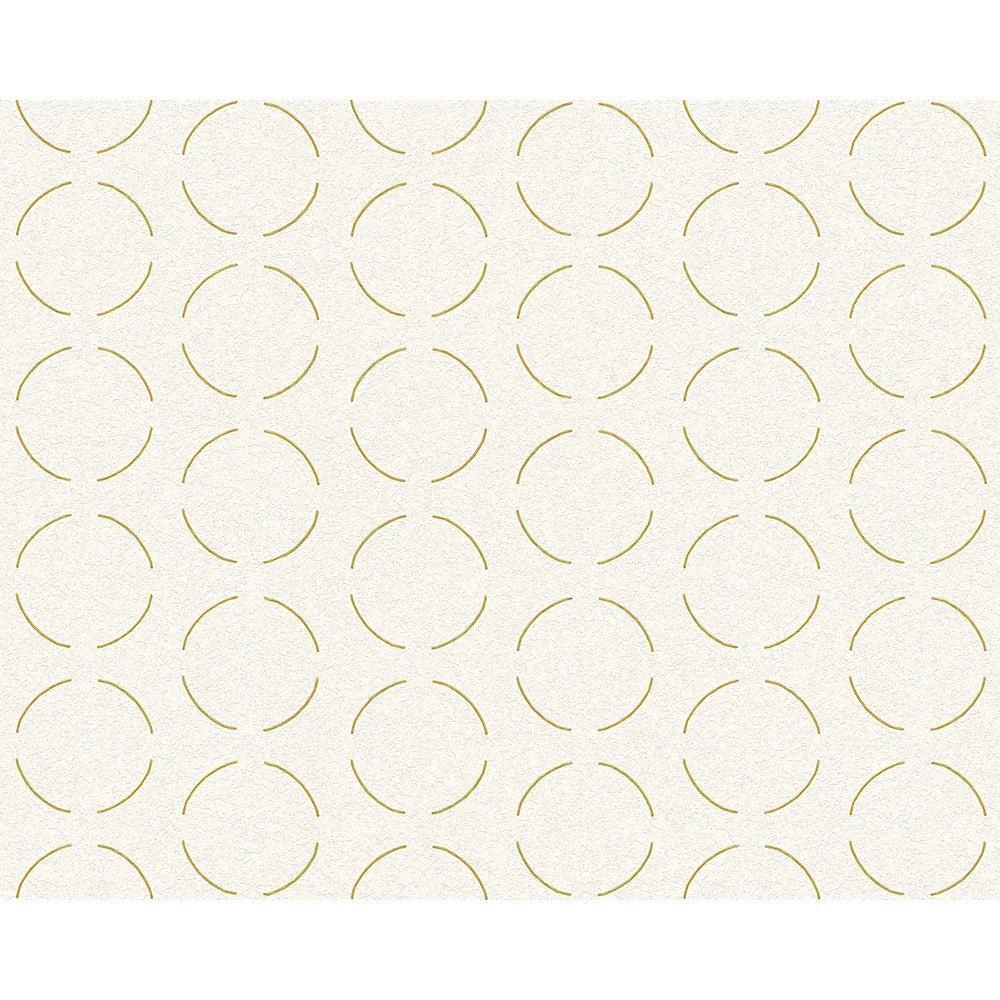 papier peint g om trique blanc or intiss ap 2000 leroy merlin. Black Bedroom Furniture Sets. Home Design Ideas