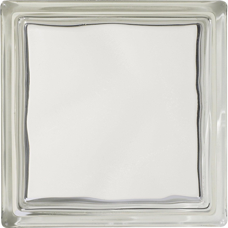 brique de verre standard lisse double face transparente. Black Bedroom Furniture Sets. Home Design Ideas