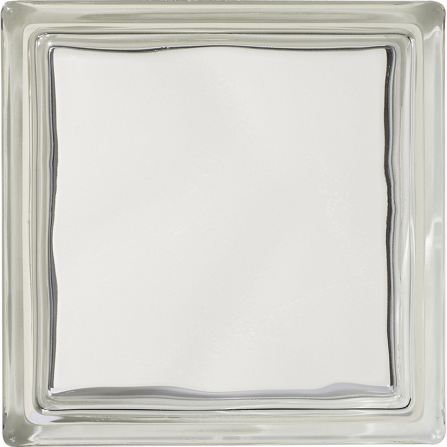 Brique de verre transparent lisse double face leroy merlin - Coupe de verre leroy merlin ...