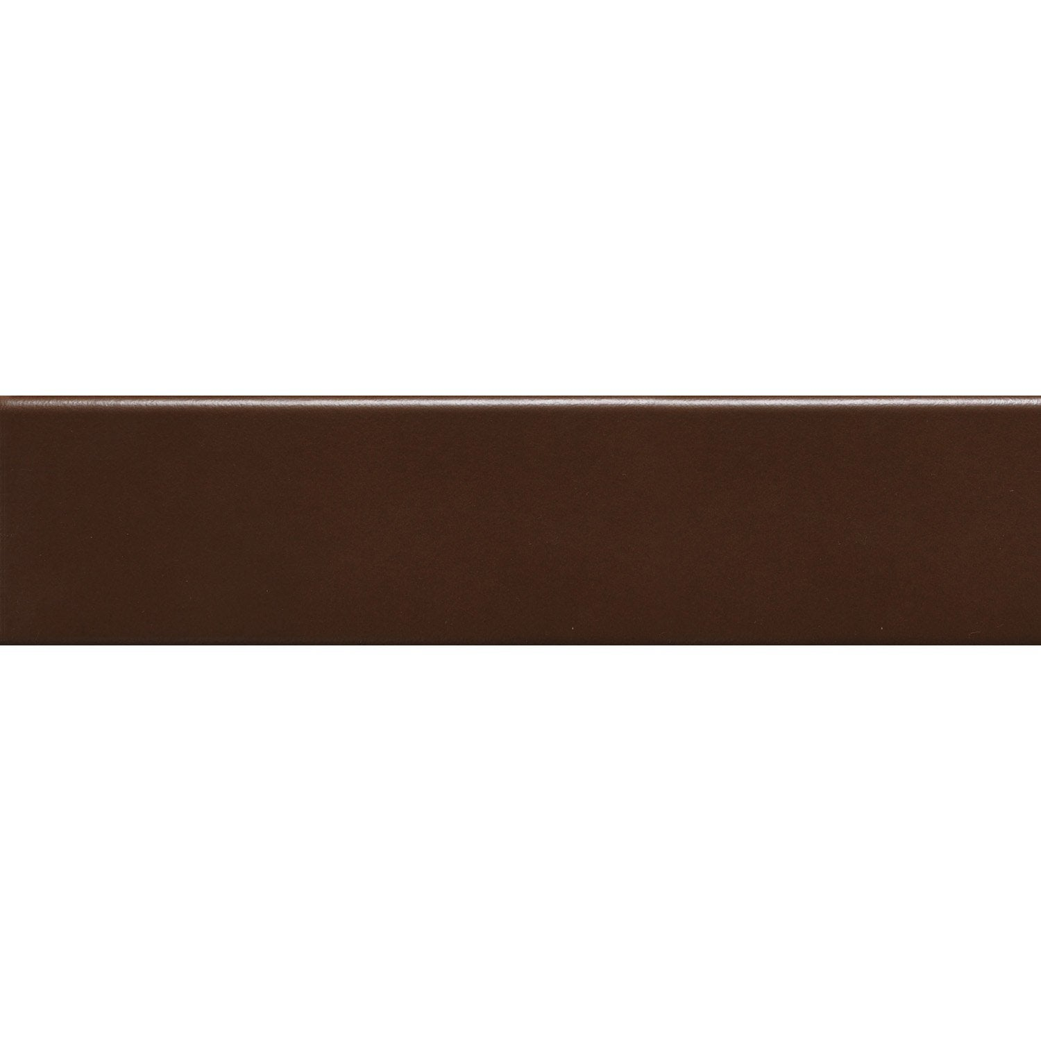 Lot de 3 plinthes uni marron marron l 8 x cm for Poser des plinthes en carrelage