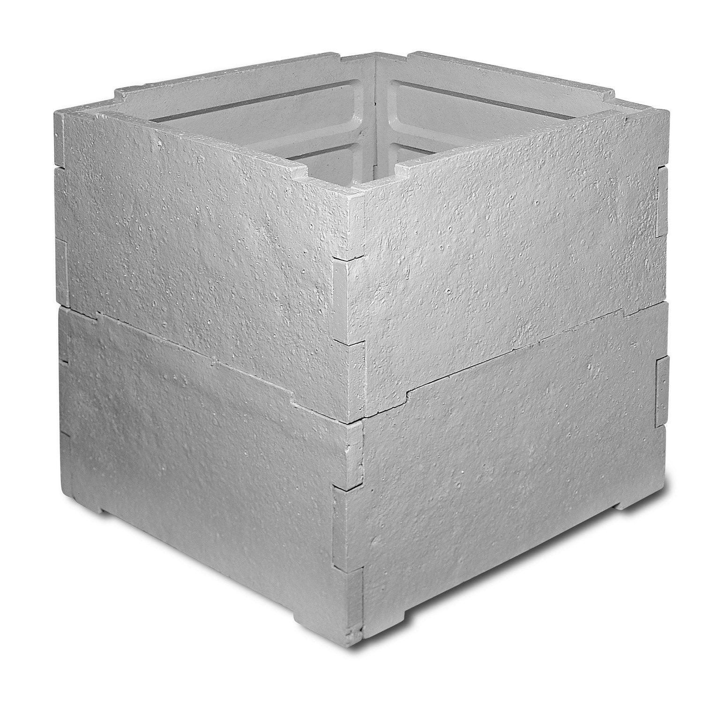 Abri en b ton pour compteur d 39 eau 80x80cm legouez for Abri de piscine leroy merlin