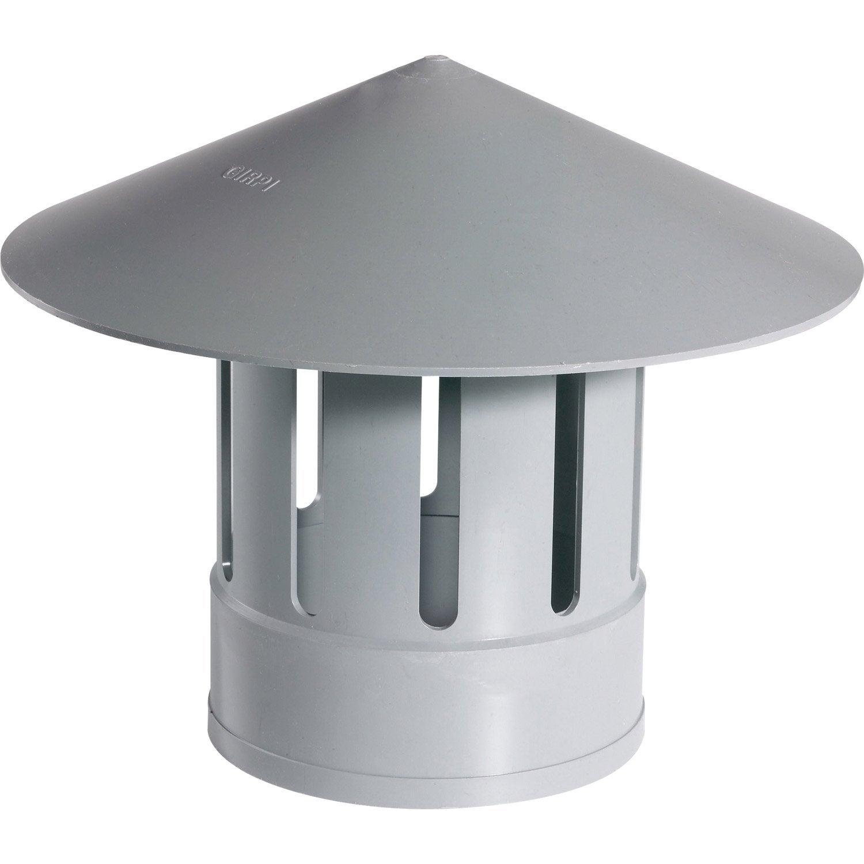 Chapeau De Ventilation : chapeau de ventilation femelle pvc gris girpi mm ~ Melissatoandfro.com Idées de Décoration