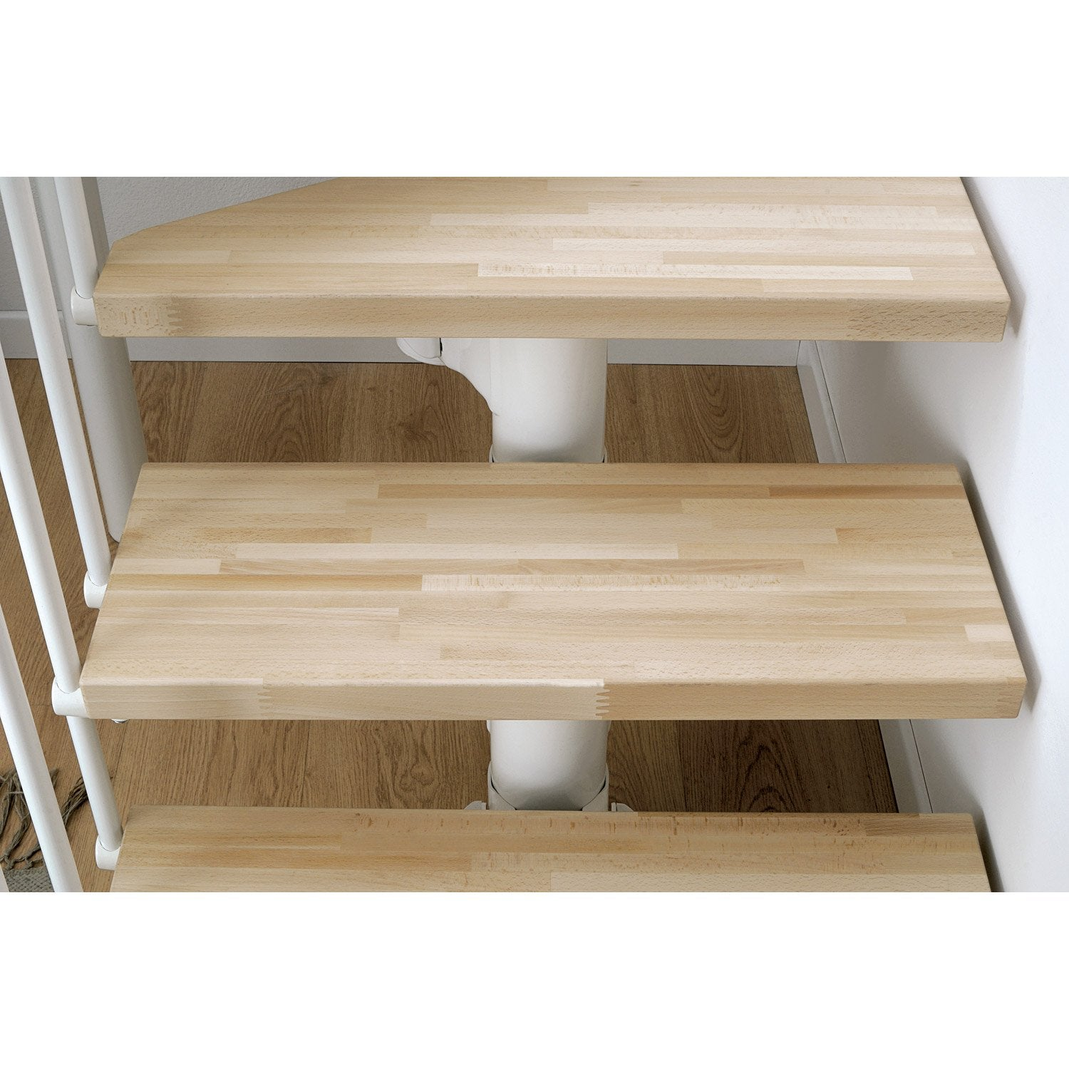 hauteur pour escalier long blanc bois clair larg 90 cm leroy merlin. Black Bedroom Furniture Sets. Home Design Ideas