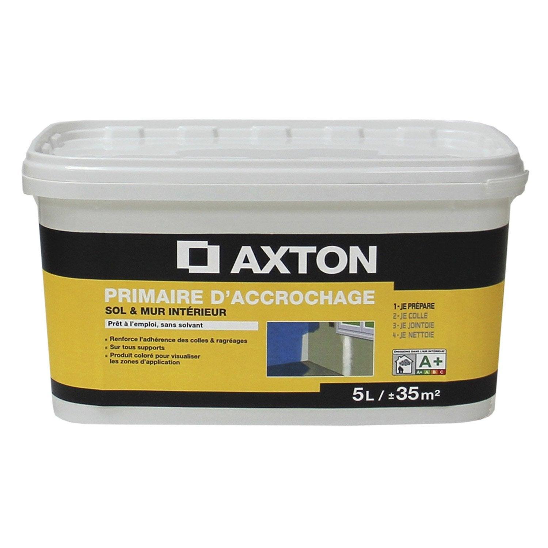 Primaire d 39 accrochage axton 5 l leroy merlin - Primaire d accrochage peinture ...