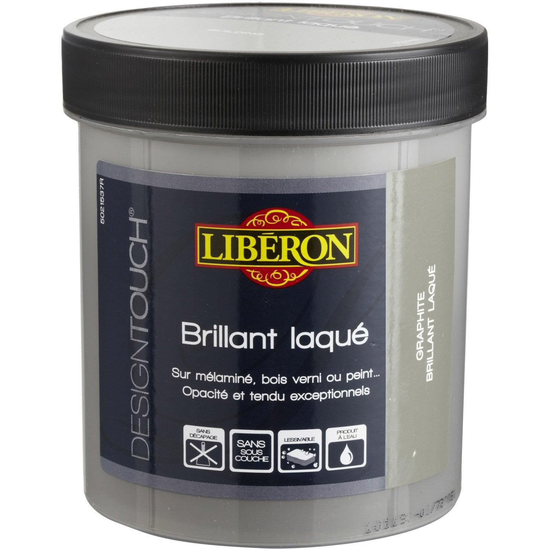 Peinture effet design touch liberon noir absolu 0 5 l - Peinture tableau noir leroy merlin ...