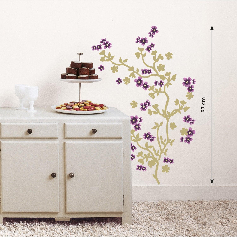 sticker cerisier japonais 24 cm x 69 5 cm leroy merlin. Black Bedroom Furniture Sets. Home Design Ideas