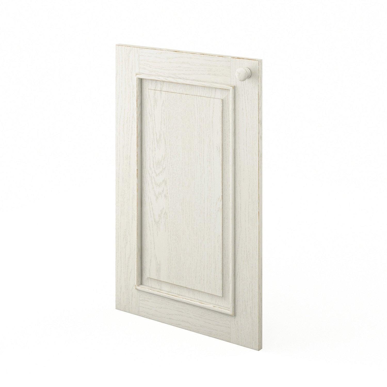 Porte de cuisine blanc cosy x cm leroy merlin for Porte 70 cm de large