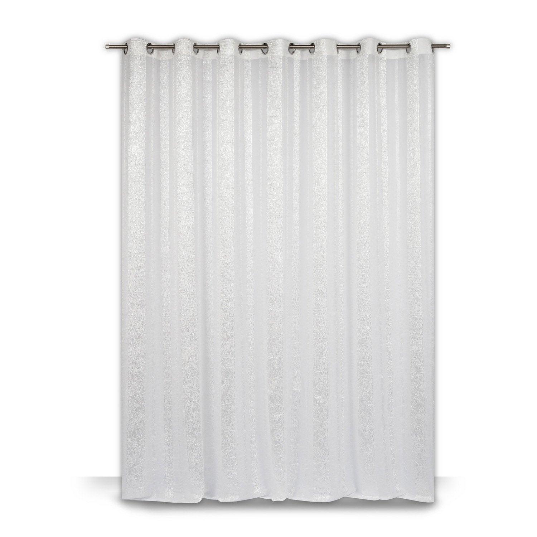voilage grande largeur mediterran e blanc x. Black Bedroom Furniture Sets. Home Design Ideas