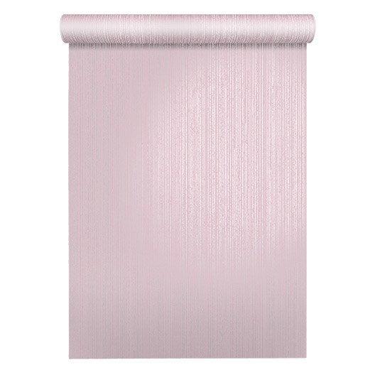 papier peint uni ligne argent rose leroy merlin. Black Bedroom Furniture Sets. Home Design Ideas