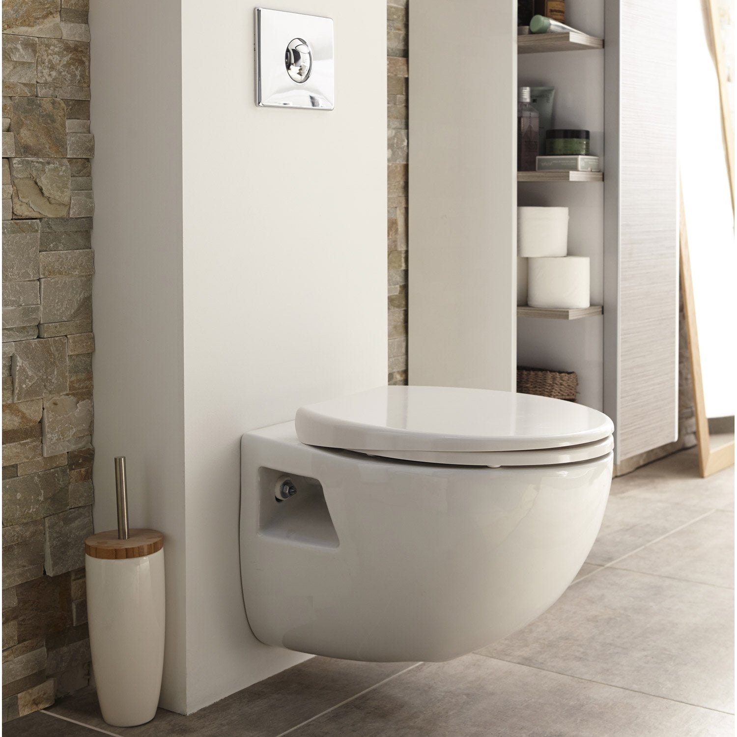 Meuble wc suspendu leroy merlin maison design - Tapas wc leroy merlin ...