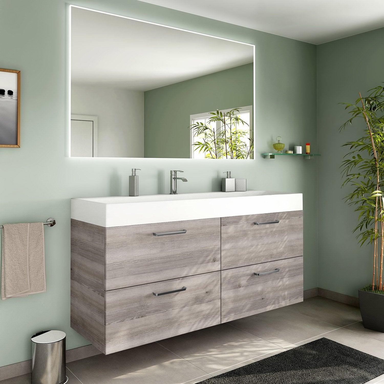 Meuble salle de bain leroy merlin neo for Meuble salle de bain marron