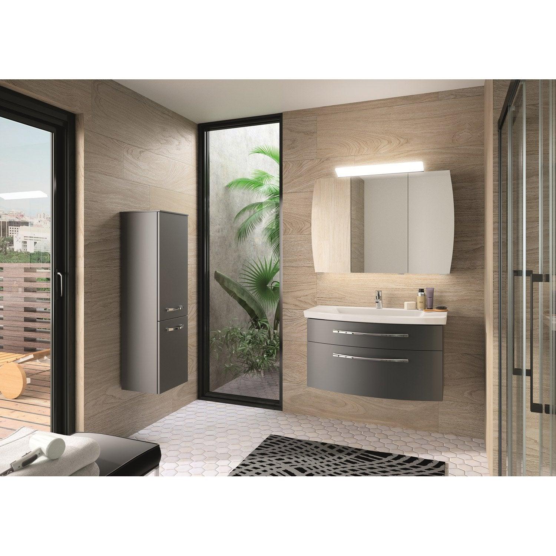 meuble de salle de bains de 80 224 99 gris argent image