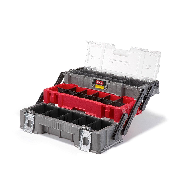 boite outils organiseur cantilever trio keter 53 cm leroy merlin. Black Bedroom Furniture Sets. Home Design Ideas