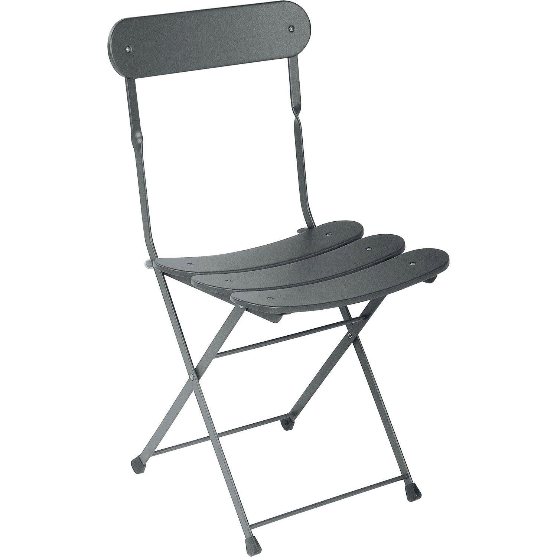 Chaise de jardin en acier cassis fer ancien leroy merlin - Chaises de jardin en fer ...