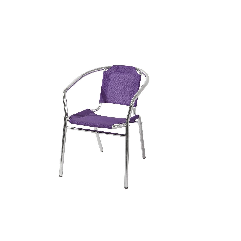 fauteuil de jardin ciudadella violet leroy merlin. Black Bedroom Furniture Sets. Home Design Ideas