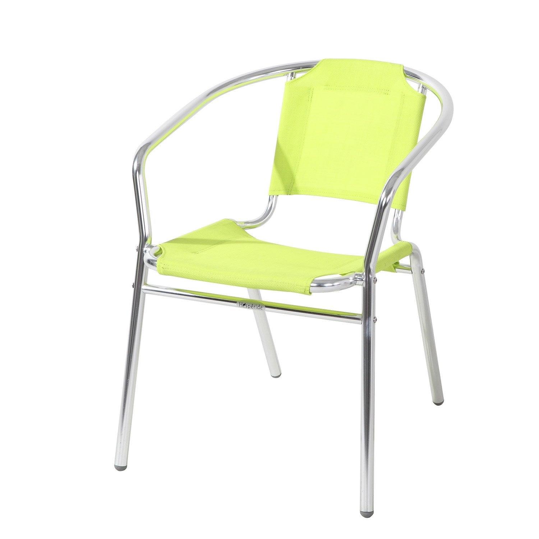 Fauteuil de jardin en aluminium ciudadella couleur vert for Fauteuil jardin leroy merlin