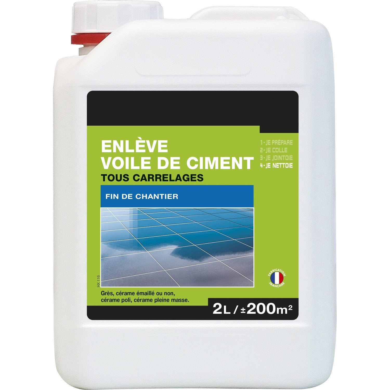 Enl ve voile de ciment tous supports axton 2l leroy merlin for Dosage ciment pour chape carrelage