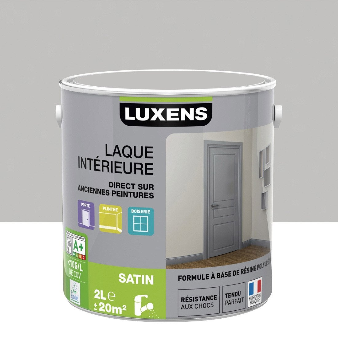 Peinture multisupports Laque satin LUXENS, gris galet n°5