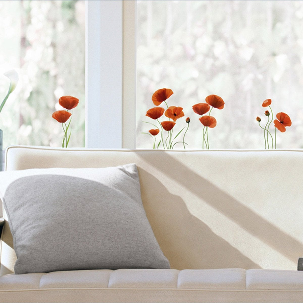 Sticker coquelicots 23 5 cm x 67 cm leroy merlin - Stickers leroy merlin ...