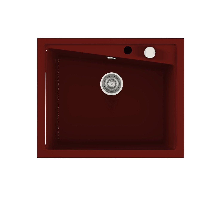 evier encastrer quartz et r sine bordeaux kuma 1 cuve leroy merlin. Black Bedroom Furniture Sets. Home Design Ideas