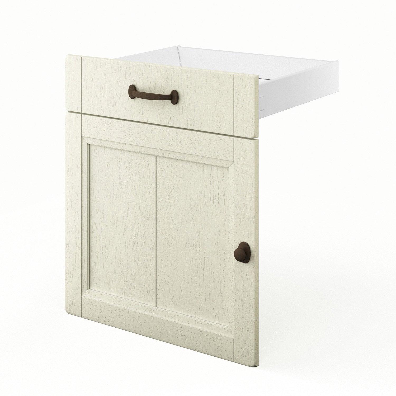 Porte et tiroir de cuisine beige tradition x x for Porte 60 x 50