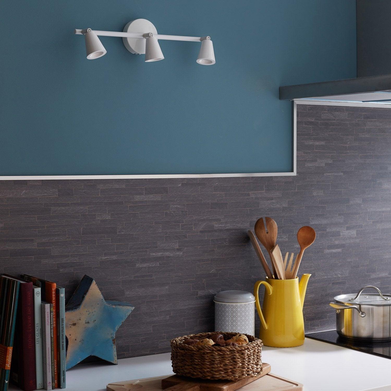 rampe 2 spots elys 3 xled int gr e blanc inspire leroy merlin. Black Bedroom Furniture Sets. Home Design Ideas