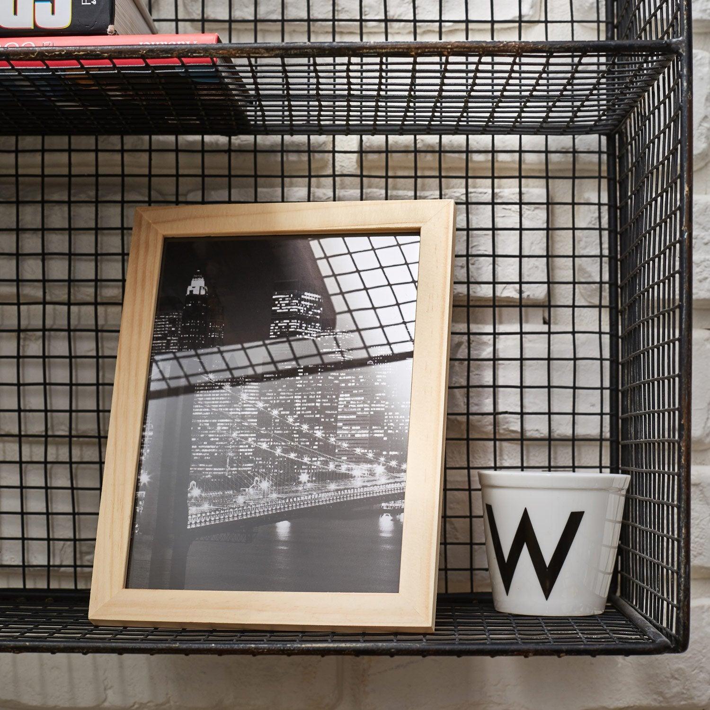 cadre bois brut 13 x 18 cm naturel leroy merlin. Black Bedroom Furniture Sets. Home Design Ideas
