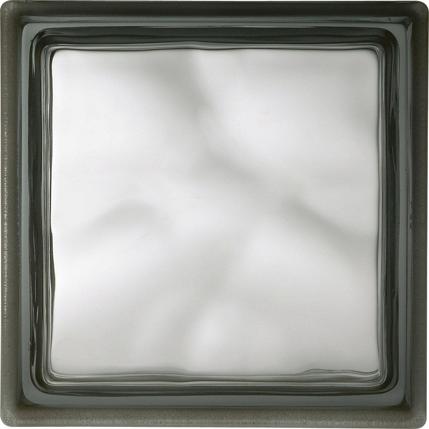 Brique de verre gris ondul brillant leroy merlin - Coupe de verre leroy merlin ...