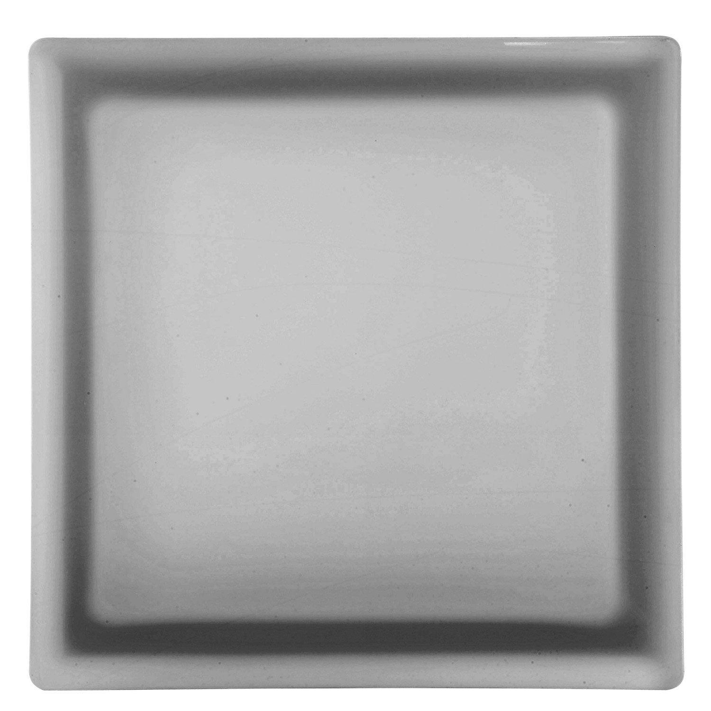 brique de verre gris lisse satin leroy merlin. Black Bedroom Furniture Sets. Home Design Ideas