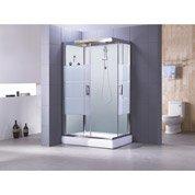 Cabine de douche Optima2 blanche hydromassante mitigeur rectangulaire 120x80 cm