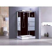 Cabine de douche rectangulaire 120x80 cm, Optima2 noire