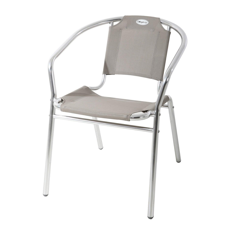 Fauteuil de jardin hesperide hespride fauteuil relax de for Table extensible allure gris poivre graphite