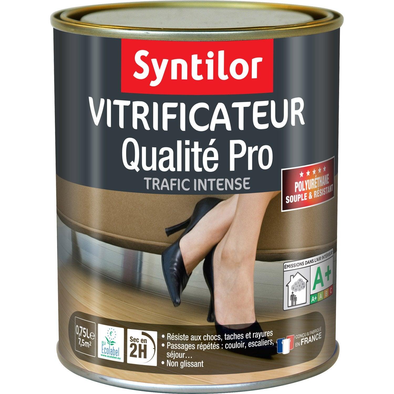 Vitrificateur parquet ultra r sistant syntilor ch ne teint cir l - Vitrificateur chene fonce ...