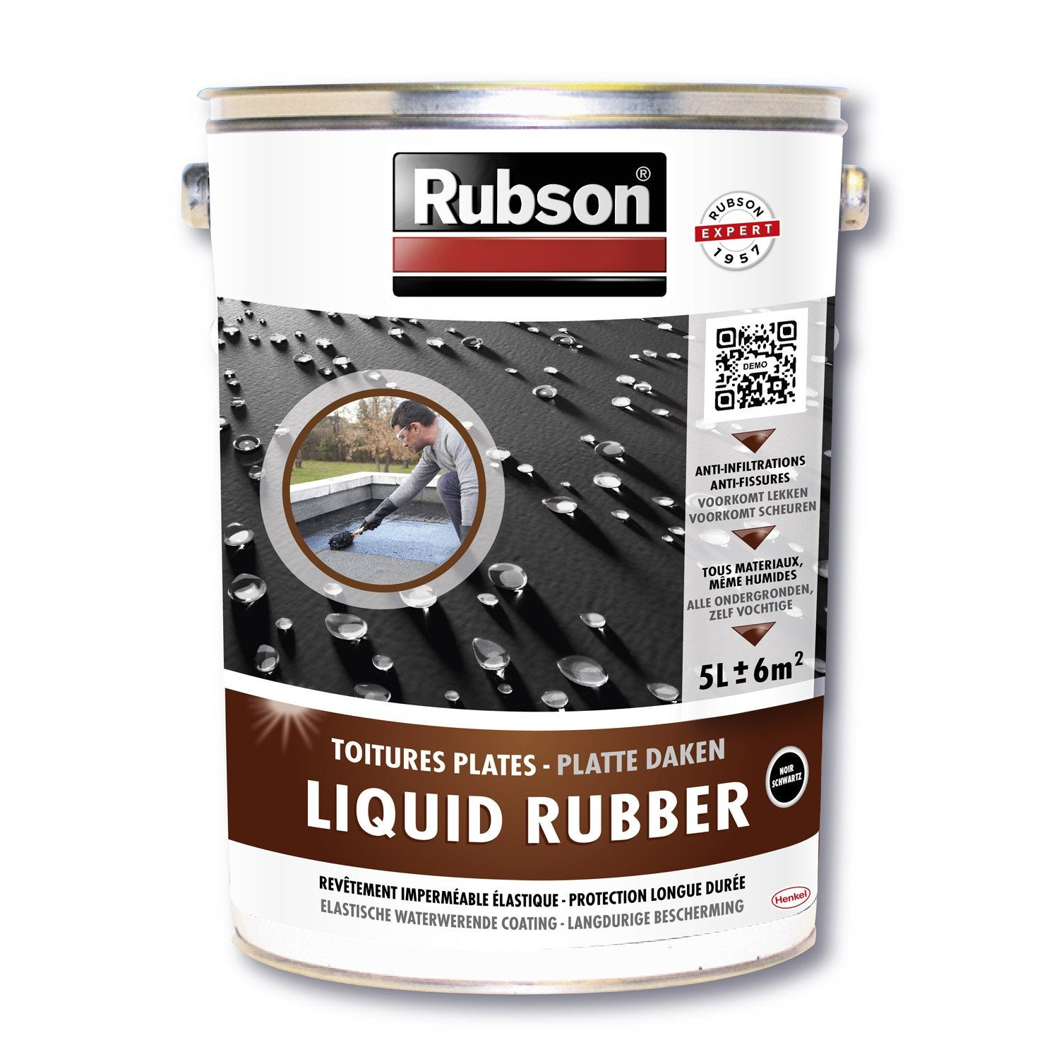 Rev tement d 39 tanch it stop fuite toiture plate rubson for Goudron liquide exterieur