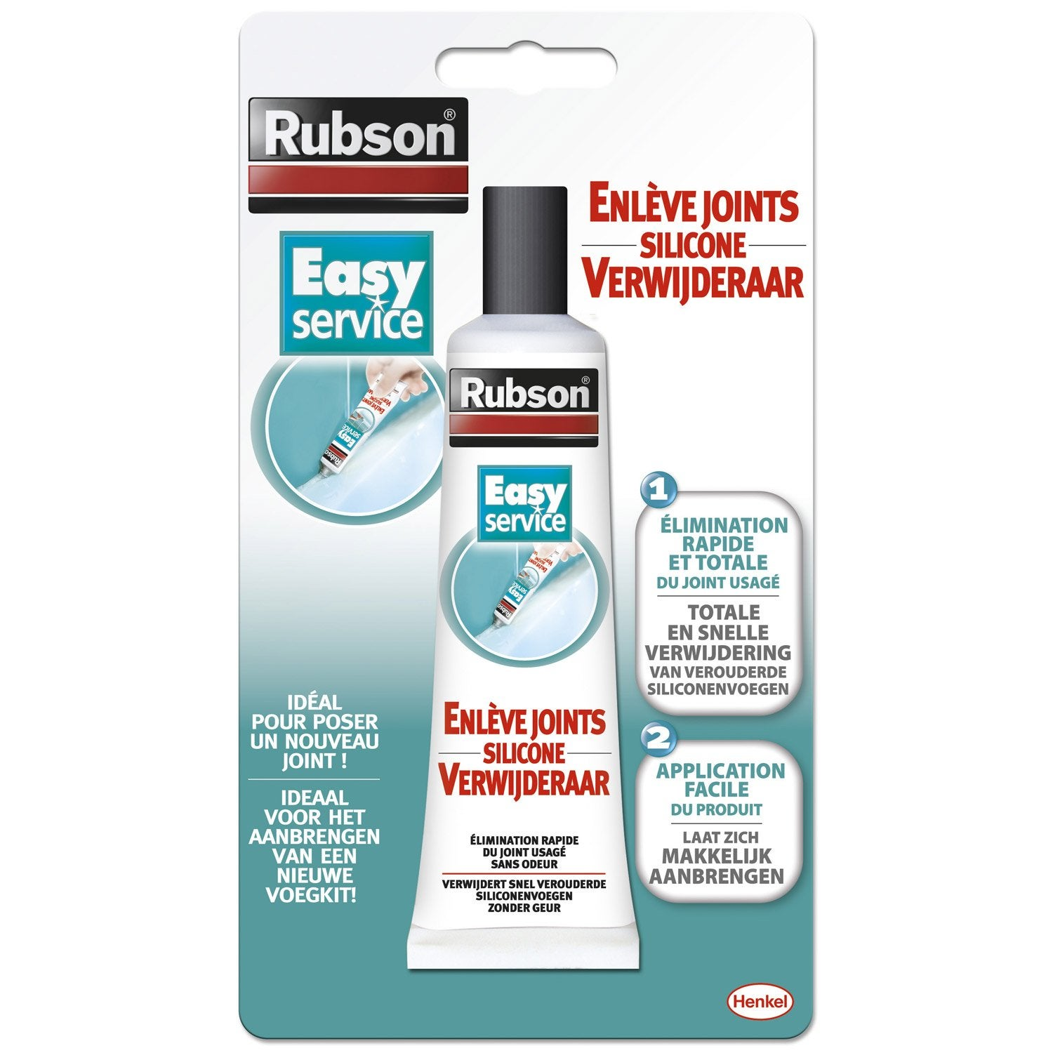Tube enl ve joint pour mastic rubson easy 80 ml leroy merlin - Temps de sechage joint silicone douche ...
