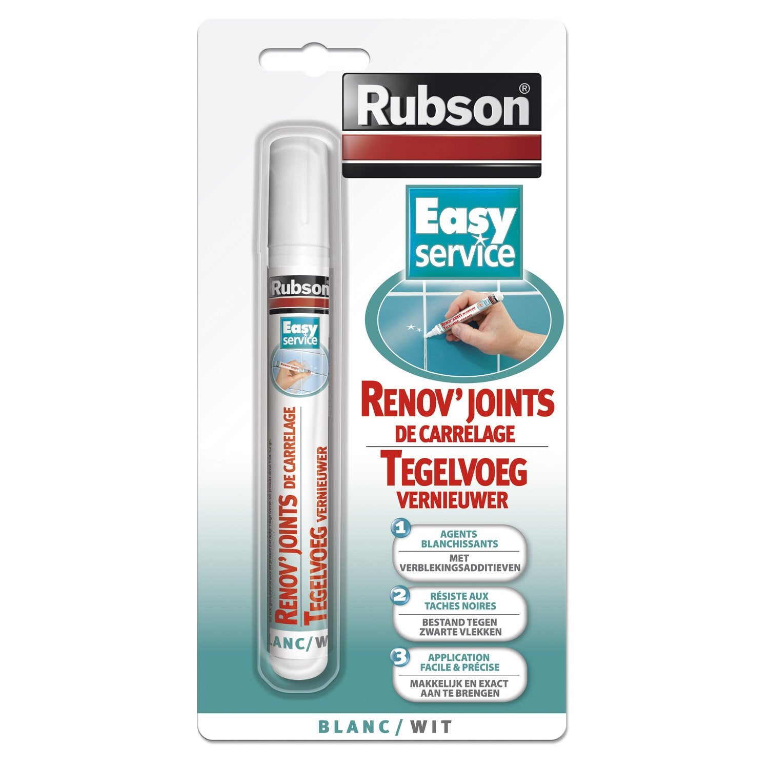 R novateur joints de carrelage rubson 7 ml leroy merlin for Peinture pour joints de carrelage