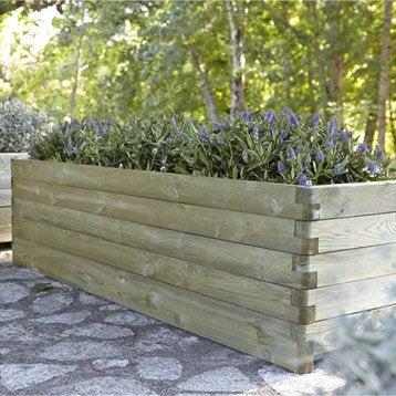 bac en bois l 180 x l 50 x h 50 cm naturel leroy merlin. Black Bedroom Furniture Sets. Home Design Ideas