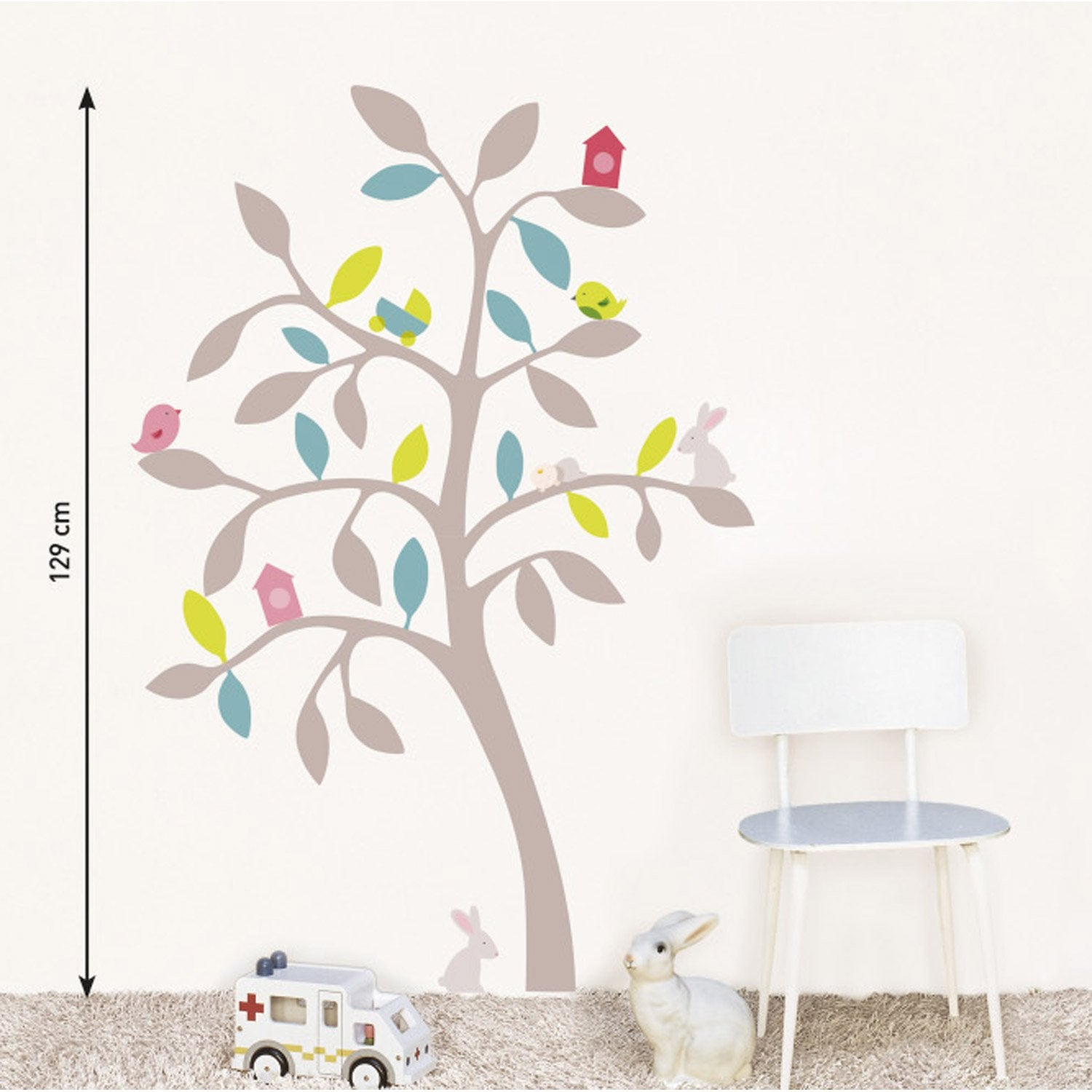 Sticker printemps 49 cm x 69 5 cm leroy merlin - Leroy merlin stickers muraux ...