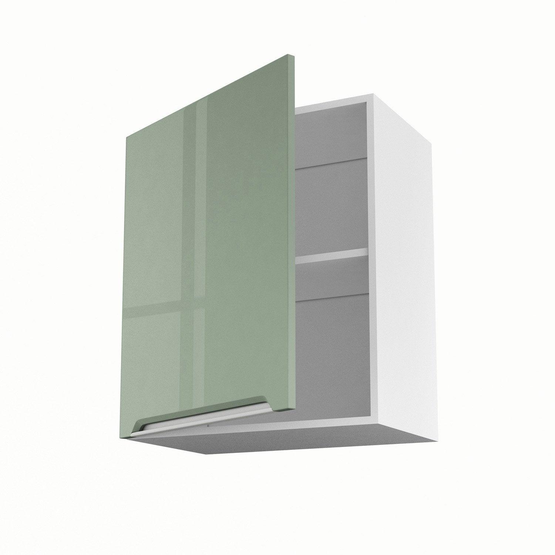 meuble de cuisine haut vert 1 porte milano x x p. Black Bedroom Furniture Sets. Home Design Ideas