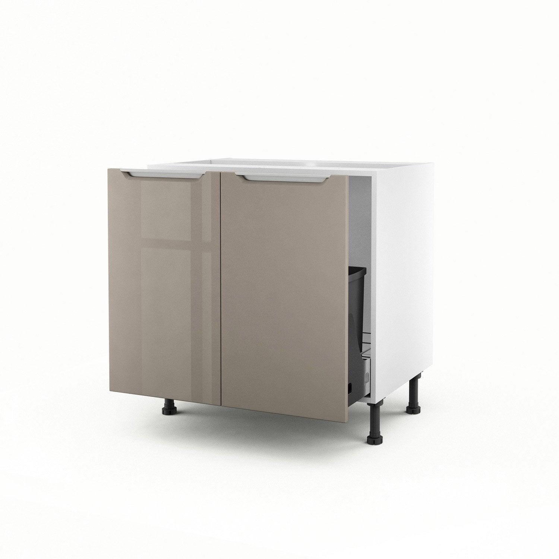 meuble de cuisine sous vier taupe 2 portes milano. Black Bedroom Furniture Sets. Home Design Ideas