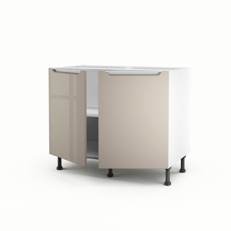 meuble de cuisine bas taupe 2 portes milano x x. Black Bedroom Furniture Sets. Home Design Ideas