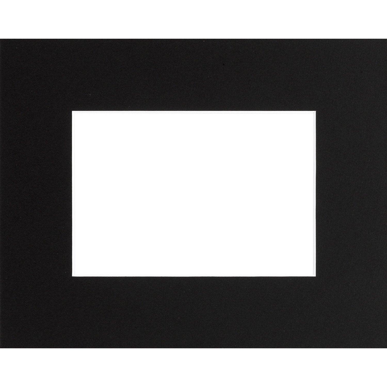 passe partout 40x50 cm noir leroy merlin. Black Bedroom Furniture Sets. Home Design Ideas