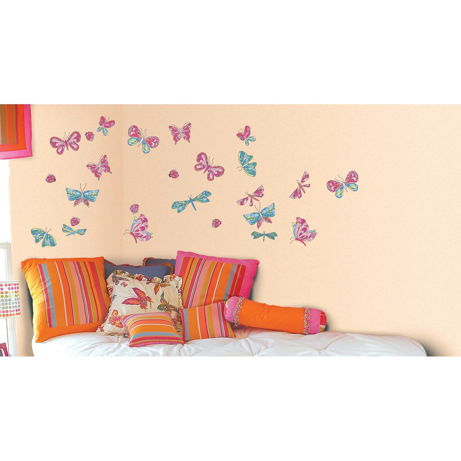 sticker papillons magiques 50 cm x 70 cm leroy merlin. Black Bedroom Furniture Sets. Home Design Ideas